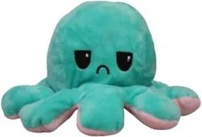 E1074 Plyšová chobotnička dvojfarebná - Emócia Oranžová