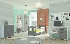 Šedá zostava nábytku do detskej izby Dundee