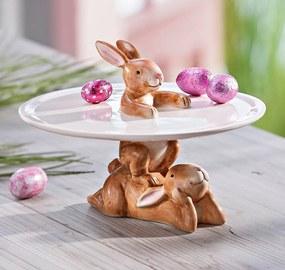 Dekoračný tanier Zajace