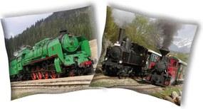 SDS Obliečka na vankúšik Parná lokomotíva 1 bavlna 40/40 cm