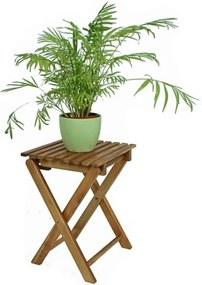 Sada 2 záhradných skladacích stoličiek z eukalyptového dreva ADDU Tacoma