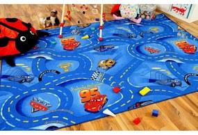 Detský koberec 100x150 cm CARS modrý