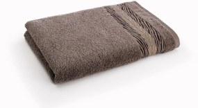 Luxusní ručník z kolekce Naomi Campbell 50x100 cm, 480 g/m² - hnědý