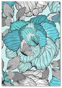 Foto obraz akryl do obývačky Kvetinový vzor pl-oa-70x100-f-117259293