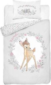 DETEXPOL Obliečky do postieľky Bambi sivá Bavlna, 100/135, 40/60 cm