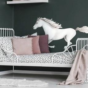 lovel.sk Nálepka na stenu Animals - biely kôň DK376