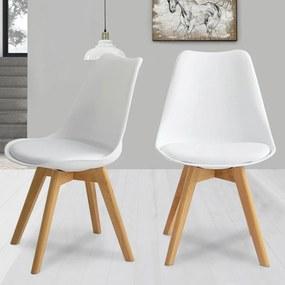 2ks Jedálenská stolička NORDICA - biela