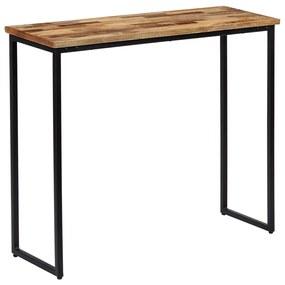 vidaXL Konzolový stolík, masívne recyklované teakové drevo 90x30x76 cm