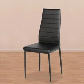 Jídelní židle VALERIA černá - 4ks