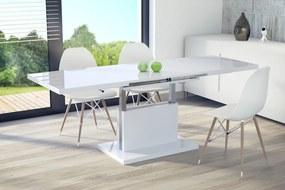 Mazzoni ASTON biely lesk, rozkladací, zdvíhací, konferenčný stolík