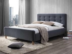 Šedá čalouněná postel PINKO 160 x 200 cm Matrac: Matrac COCO MAXI 23 cm