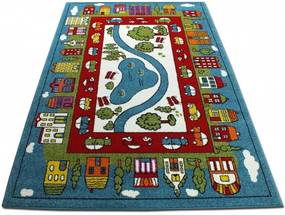 Detský koberec Park v meste modrý, Velikosti 200x290cm