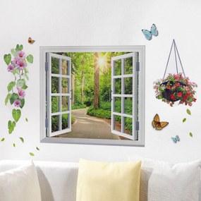 Die moderne Hausfrau Samolepící dekorace na stěnu Jarní pozdrav