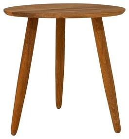 Odkladací stolík z masívneho dubového dreva Canett Uno, ø 40 cm