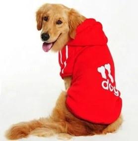 (veľkosť 3XL: 54/40 cm) Mikina DOG pre veľkých psov - červená