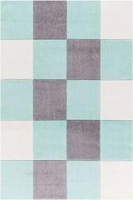 MAXMAX Dětský koberec čtverce - mátový 160x230 cm 120x180 cm 160x230 cm