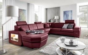 Luxusní sedací souprava Neapol Roh: Orientace rohu Pravý roh, STG: Potah Eko-kůže Cayenne 1118 šedá