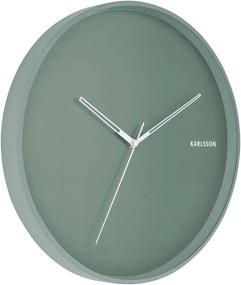 KARLSSON Nástenné hodiny Hue Metal zelená