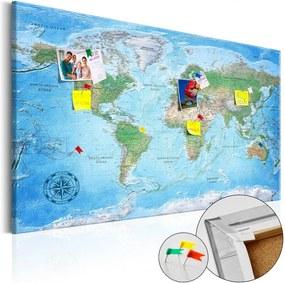 Nástenka s mapou sveta Artgeist Traditional Cartography 90 × 60 cm