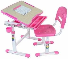 FD Rastúci stôl a stolička Banabius Farba: Ružová