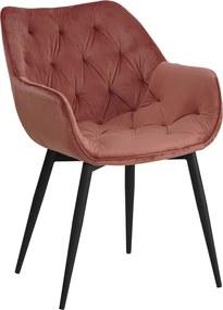 Dizajnové kreslo, ružová Velvet látka, FEDRIS