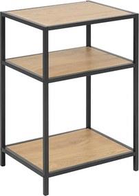 Nočný / odkladací stolík Seashell, 63 cm, dub