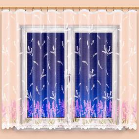 Hotová žakárová záclona MARIANA FIALOVÁ 350 x 160 cm