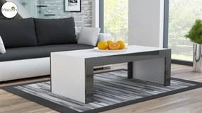 Mazzoni MILA bílá / šedá lesk, konferenčný stolík