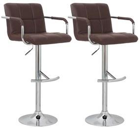 Barové stoličky, 2 ks, hnedé