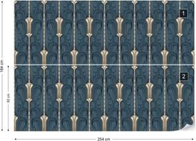 Fototapeta GLIX - 1920's Retro Pattern + lepidlo ZADARMO Vliesová tapeta  - 250x104 cm