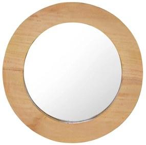 vidaXL Nástenné zrkadlo 40 cm tíkové okrúhle