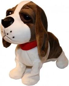 DR Chodiaci a štekajúci interaktívny pes Tmavo hnedá