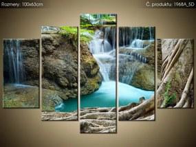 Tlačený obraz Krása pri vodopáde 100x63cm 1968A_5D