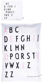 DESIGN LETTERS Obliečka Baby Letters Pink 70x100