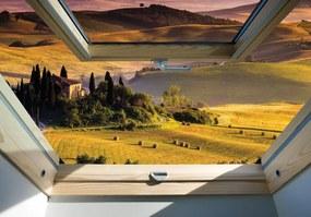 Fototapeta - Pohľad na vidiecku krajinu (254x184 cm), 10 ďalších rozmerov