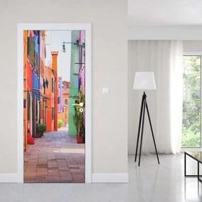 GLIX Fototapeta na dvere - Old Colourful Street