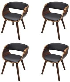 Hnedá drevená kuchynská stolička 4 ks, (4x240708)