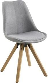 Jídelní židle Damian, látka, světle šedá/dřevo S_SCHDN0000063760 SCANDI+