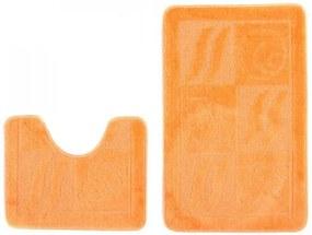 Kúpeľňové predložky 1107 oranžové 2Ks, Velikosti 50x80cm