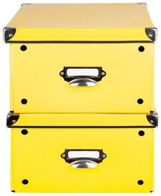 MELINERA® Úložný maxi box, 2 kusy (žltá), žltá (100300228)