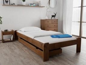 Posteľ Ada 120 x 200 cm, dub Rošt: S latkovým roštom, Matrac: Matrac Somnia 17 cm