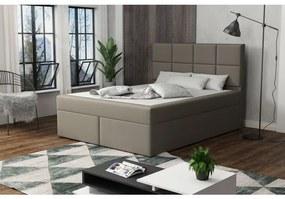 Čalúnená posteľ s prešívaním 120x200 BEATRIX - hnedá 2