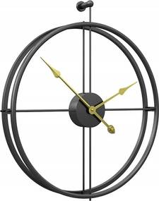 Tutumi 3D nástěnné hodiny Coat 50 cm černé