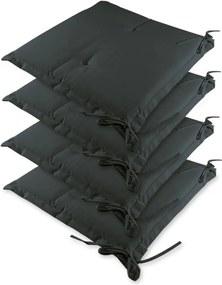 4x sedacia poduška na záhradné kreslo Farba: antracitová