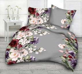 Posteľná obliečka Grey Flower 140x200/70x90cm