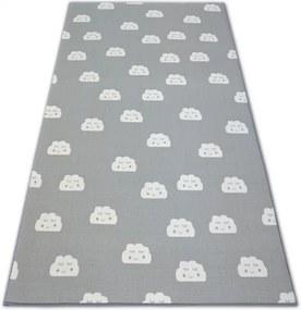 MAXMAX Detský koberec SPIACI mráčika - sivý
