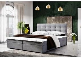 Moderná posteľ s úložným priestorom 180x200 STIG II - šedá