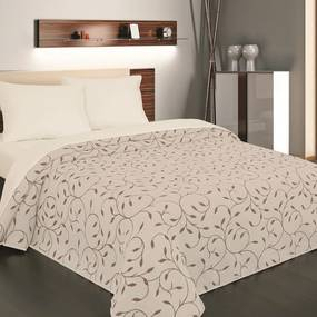 Forbyt Prehoz na posteľ Indiana hnedá, 240 x 260 cm, 240 x 260 cm
