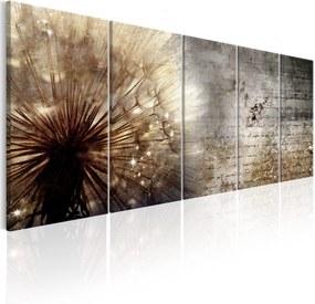 Obraz - Beige Dandelion 225x90