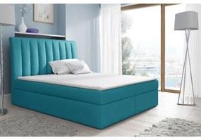 Kontinentálna posteľ Kaspis modrá 120 + topper zdarma